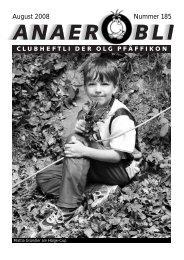 August 2008 Nummer 185 - OLG Pfäffikon