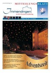 Mitteilungsblatt KW 48 - Immendingen