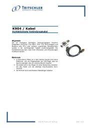 Produktinfo (471 kB) - FTL Tritschler Elektronik+Feingerätebau