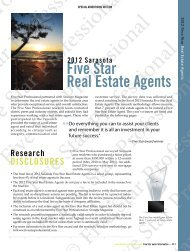 2012 Sarasota Five Star Real Estate Agents - Five Star Professional