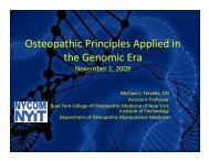 Osteopathic Principles Applied in the Genomic Era