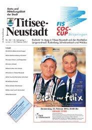 Amtsblatt Nr. 04 vom 23.02.2012 - Titisee-Neustadt