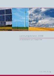 Leistungsbilanz 2008 - Ökorenta Finanz AG