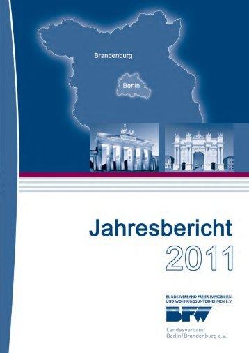 Jahresbericht 2011 - BFW Landesverband Berlin/Brandenburg eV