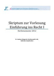 Skript Recht I HS 2012 - Kellerhals Anwälte