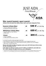 AIDA - First Reisebüro