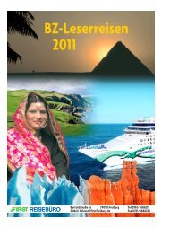 BZ-Leserreisen 2011 - First Reisebüro