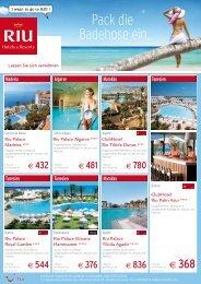 Pack die Badehose ein... - TUI ReiseCenter
