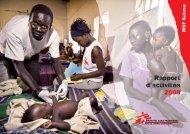 Rapport d'activités 2008 - Médecins Sans Frontières Suisse