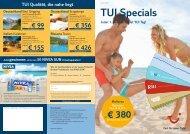 TUI Specials Juli - First Reisebüro