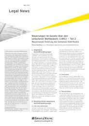 Legal News – März 2012 - Home - Ernst & Young - Schweiz