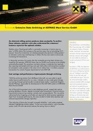Extensive Data Archiving at ASFINAG Maut Service GmbH