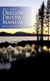 2013 Oregon Driver Manual - Oregon Department of Transportation