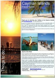 Cayman Islands Travel guide - Cayman Luxury Charters