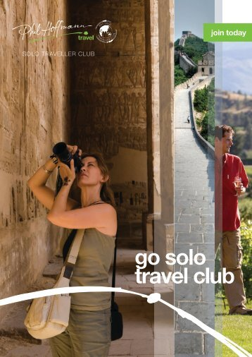 go solo travel club - Phil Hoffmann Travel