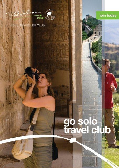 go solo travel club - Phil Hoffmann Travel