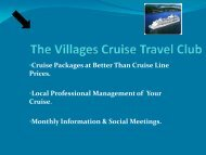 The Villages Cruise Travel Club