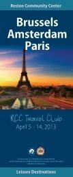 Reston Community Center Travel Club: Brussels/Amsterdam/Paris