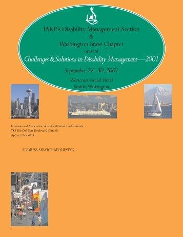 2001 Disability Management Conference Brochure - IARP
