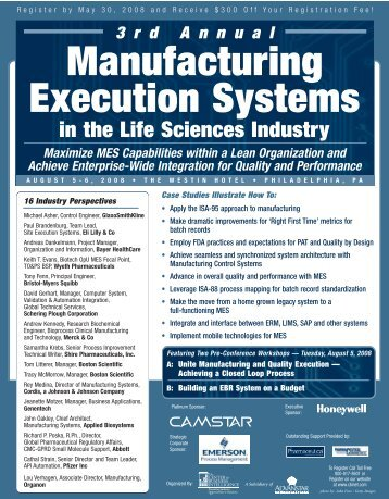3rd Annual Manufacturing Execution Systems