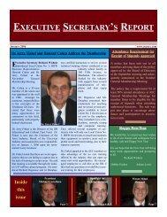executive secretary's report - Association of Electrical Contractors
