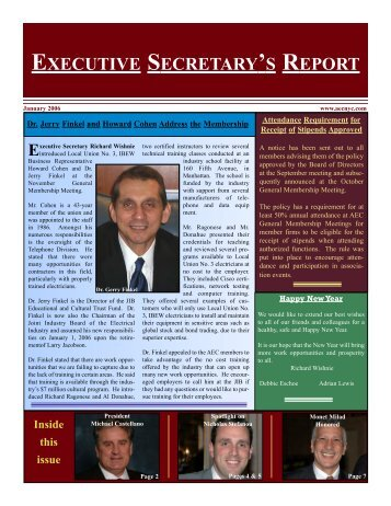 executive secretary's report - Association of Electrical Contractors