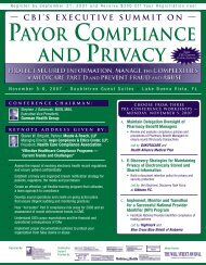 PAYOR COMPLIANCE AND PRIVACY - Gibbons PC