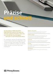 Produktdatenblatt (Pdf) - Pitney Bowes