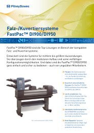 Falz-/Kuvertiersysteme FastPac™ DI900/DI950 - Pitney Bowes ...