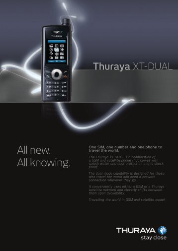 XT-Dual Fact Sheet - Thuraya