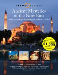 Ancient Mysteries of the Near East - Travel Concepts