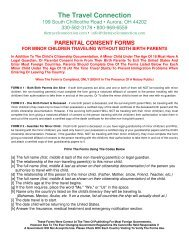 parental consent forms - The Travel Connection