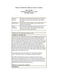Historic Columbia River Highway Advisory ... - State of Oregon