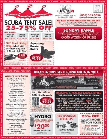 SCUBA TENT SALE! - Ocean Enterprises