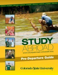 CSU Pre-departure guide - Study Abroad - Colorado State University