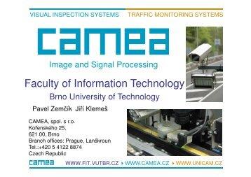 Jiri Klemes: CAMEA - Image and Signal Processing