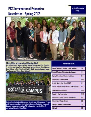 PCC International Education Newsletter - Portland Community College