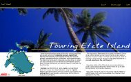 fact sheet - Vanuatu Tourism Office