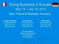 Doing Business in Europe - International Programs - Virginia Tech
