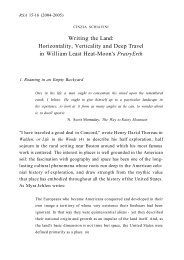 Writing the Land: Horizontality, Verticality and Deep Travel in ... - aisna