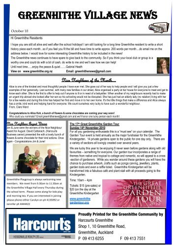 Greenhithe Village News - Greenhithe Residents Web Site