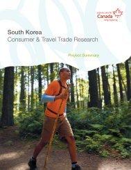 Project Summary South Korea Consumer & Travel Trade - Canadian ...