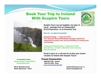 Book Your Trip to Ireland With Sceptre Tours - Travel Connection