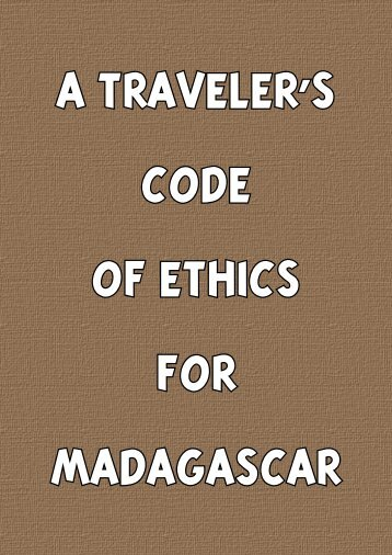 A Traveler's Code of Ethics for Madagascar