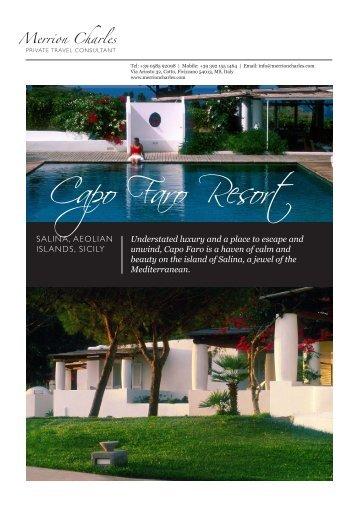 Capo Faro Resort - Merrion Charles