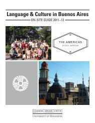 Language & Culture in Buenos Aires - Learning Abroad Center ...