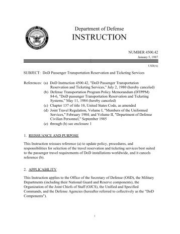 Dod Instruction 121508 Officers Rotc