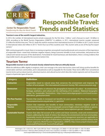 to view the full report. - Center for Responsible Travel