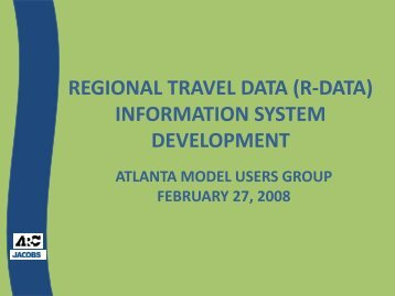 regional travel data information system development - the Atlanta ...