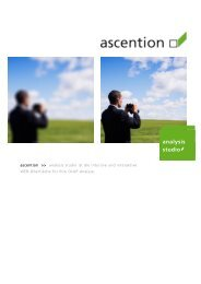 analysis studio - ascention